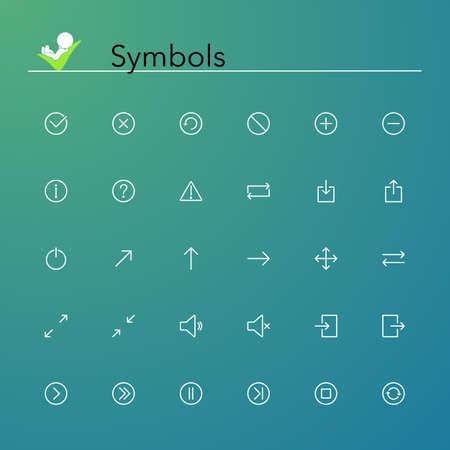 Symbols line Icons set  Vector illustration  Vector