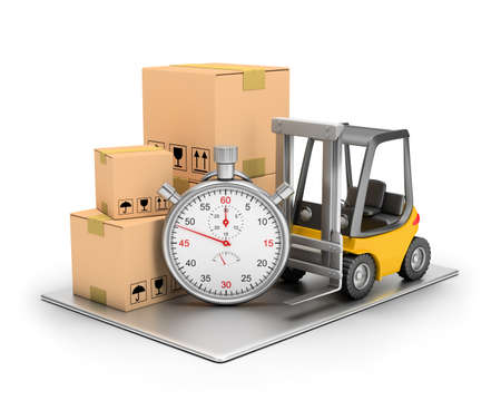 Delivery concept. 3d image. Isolated white background. Standard-Bild