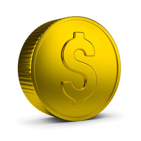 gold coin: Gold coin. 3d image. Isolated white background.