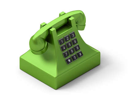 contact: Isometric telephone. 3d image. Isolated white background.