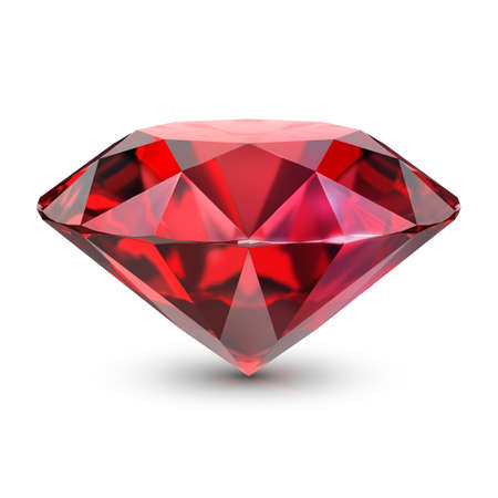 Ruby. 3d image. Isolated white background.