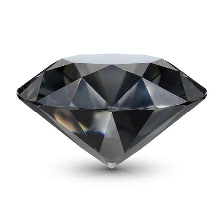 rendering: Black diamond. 3d image. Isolated white background.