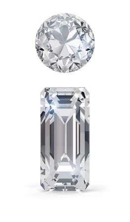 Diamond information icon. 3d image. White background. Stock Photo