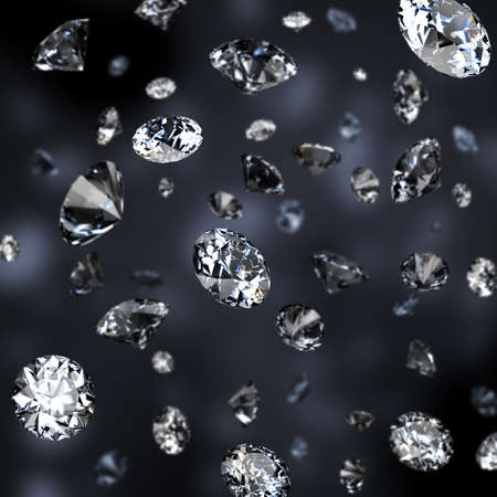 Diamond rain. Dark background.