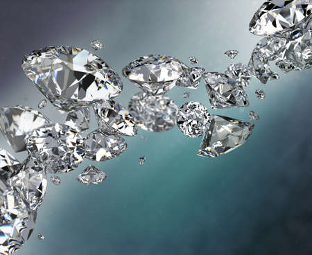 Abstract background with diamonds. 3d image.