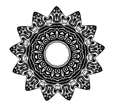 黒と白の部族グリフ シンボルの血スター clipart イラスト