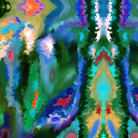 smeary: An abstract, vivid, smeary digital painting. Stock Photo