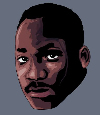 a stylized impressionist art portrait of Martin Luther King Jr. 스톡 콘텐츠
