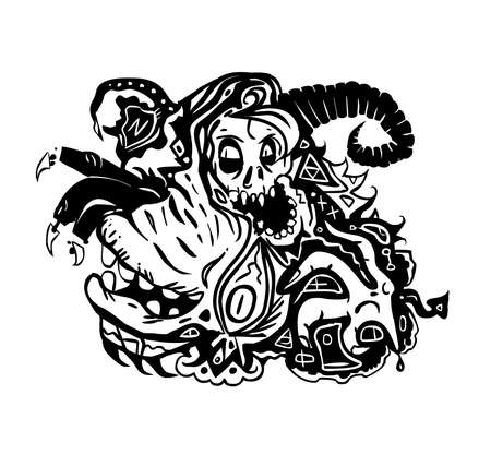 QUIETUS a demonic abstract clipart illustration