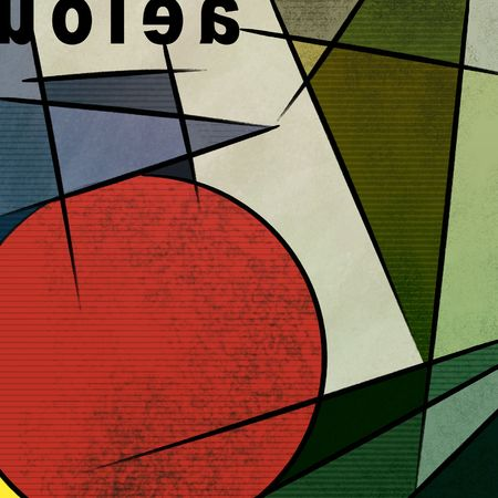 現代美術カラフルな線、図形、テクスチャの絵