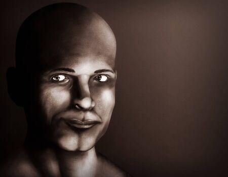 若い成人男性の肖像画を描いた