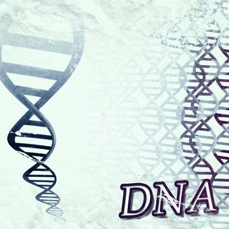 een grungy artistieke illustratie van een DNA-dubbele helix