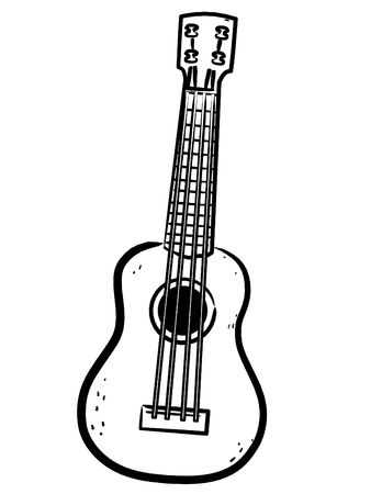 a simple Ukulele line art illustration