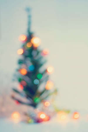 out of focus: Beautiful Out of focus Retro color christmas lights for background