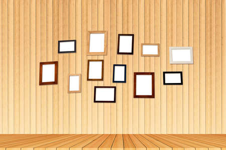 group photo: Group photo frames on the wall inside room