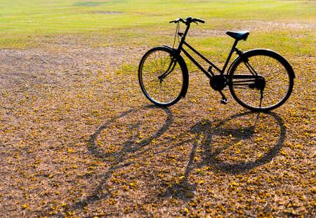 old bicycle: Vintage Bicycle, Old bicycle Stock Photo