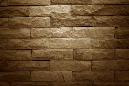 vignette: Brown brick wall add vignette