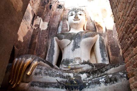 hand of ajana wat srichum,sukhothai north of thailand photo
