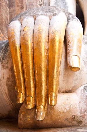 ajana: hand of ajana wat srichum,sukhothai north of thailand