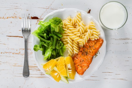 My plate portion control guide, top view Stockfoto