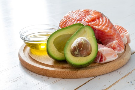 unsaturated fat: Selection of healthy fat sources, copy space