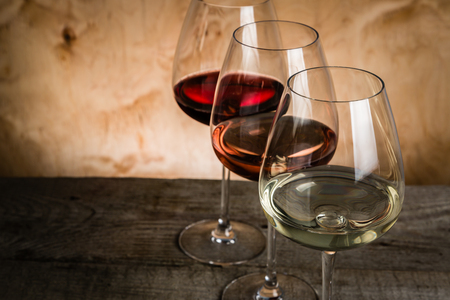 Selectie van wijn voor het proeven, kopieer ruimte