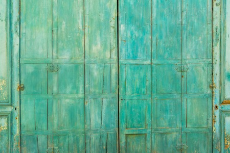 blue green background: Rustic green blue wood background, copy space
