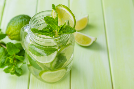 infused: Lime and mint detox water