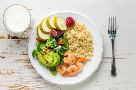 a portion: My plate - portion control guide Stock Photo