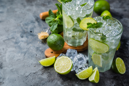 Mojito cocktail and ingredients Stock Photo - 75843206