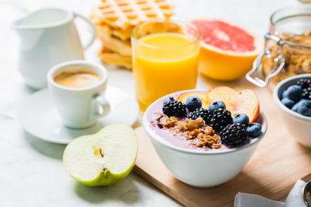 Breakfast and lunch concept - traditional food Stock Photo