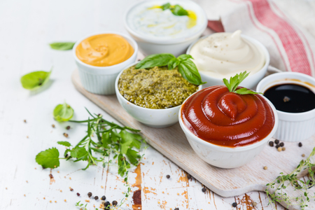 Selection of different sauces in bowls Zdjęcie Seryjne - 83253774