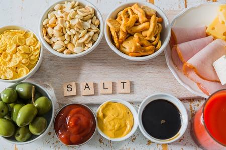 Selectie van zout rijk aan zout
