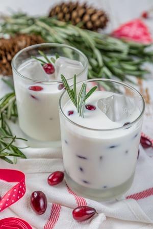 White Christmas margarita punch Stock Photo