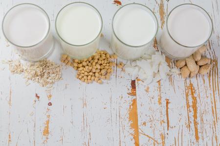 Non-dairy milk alternatives Stok Fotoğraf