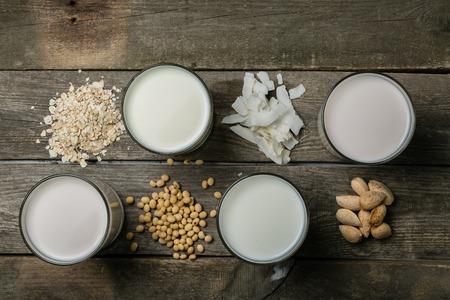 Non dairy milk concept Фото со стока