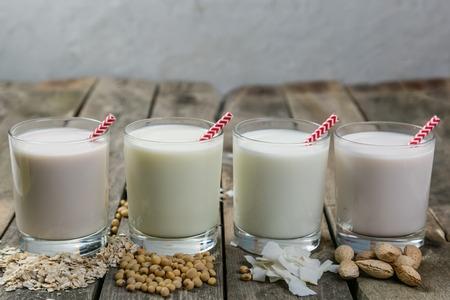 Niet-zuivel melkconcept