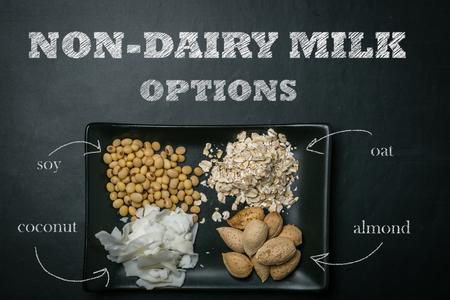 Non dairy milk concept 版權商用圖片