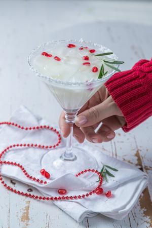 Christmas white margarita punch