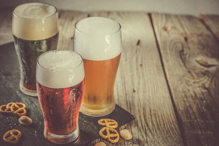 Different types of beer Imagens