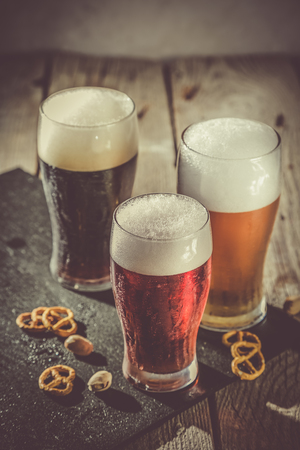 Different types of beer Stock Photo