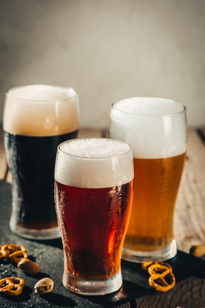 Different types of beer 스톡 콘텐츠