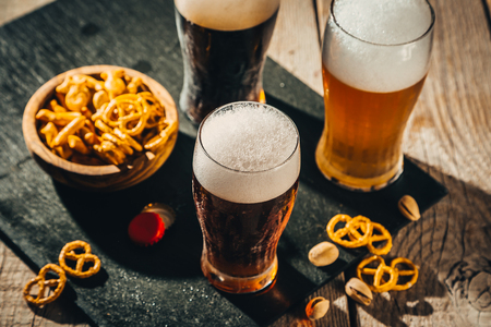 Different types of beer Stockfoto