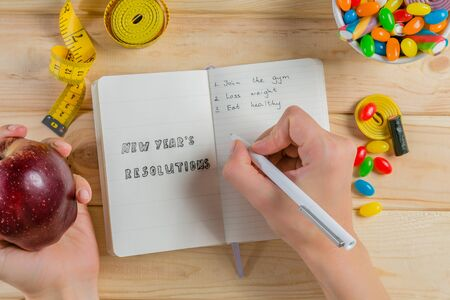 New year resolutions concept Stock Photo