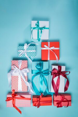 Christmas concept - presents Stock Photo