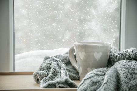 Accogliente cioccolata calda invernale