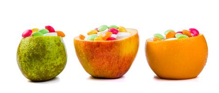 Health care concept - fruits ore full of vitamins 版權商用圖片