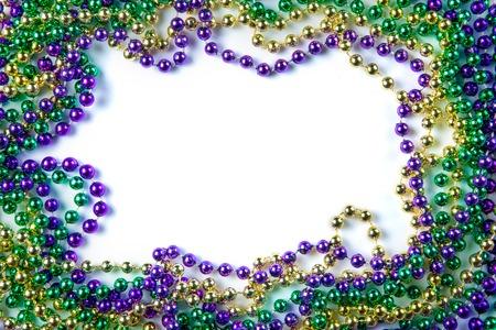 Mardi Gras Carnaval fundo - grânulos e máscara Foto de archivo