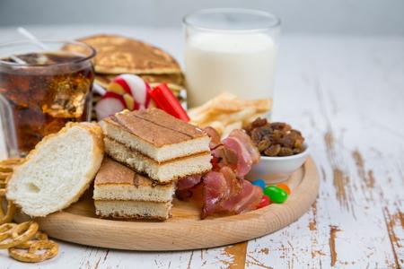 당뇨병, 건강 관리 개념을 일으킬 수있는 음식 선택