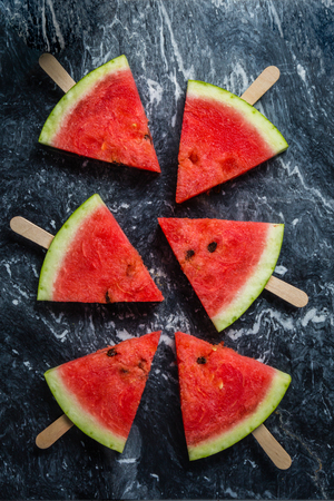 Watermelon slices - healthy lifestyle concept